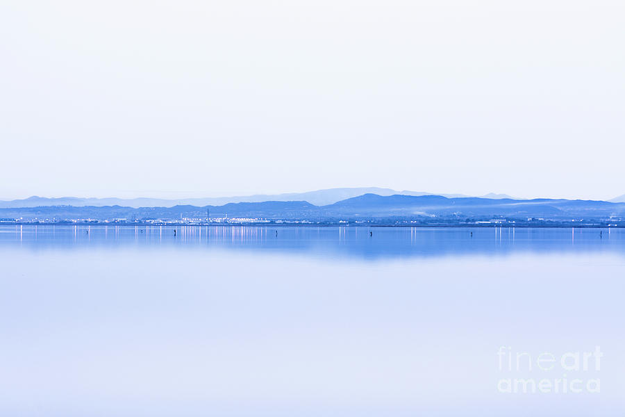 Relaxation Photograph - Blue Shore by Vicente Sargues
