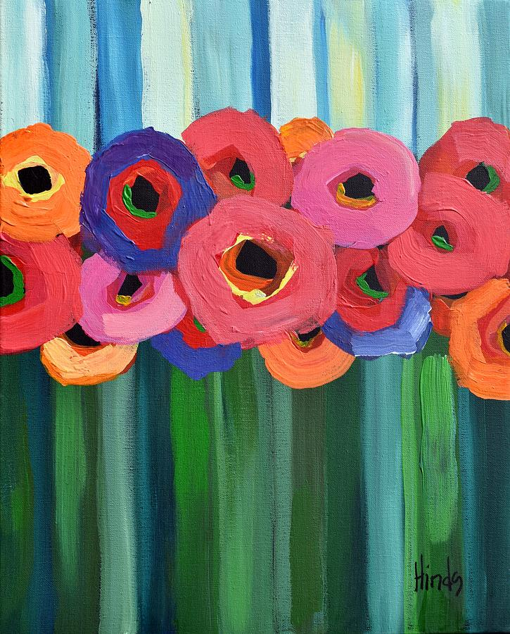 Blue Sky Poppies Painting