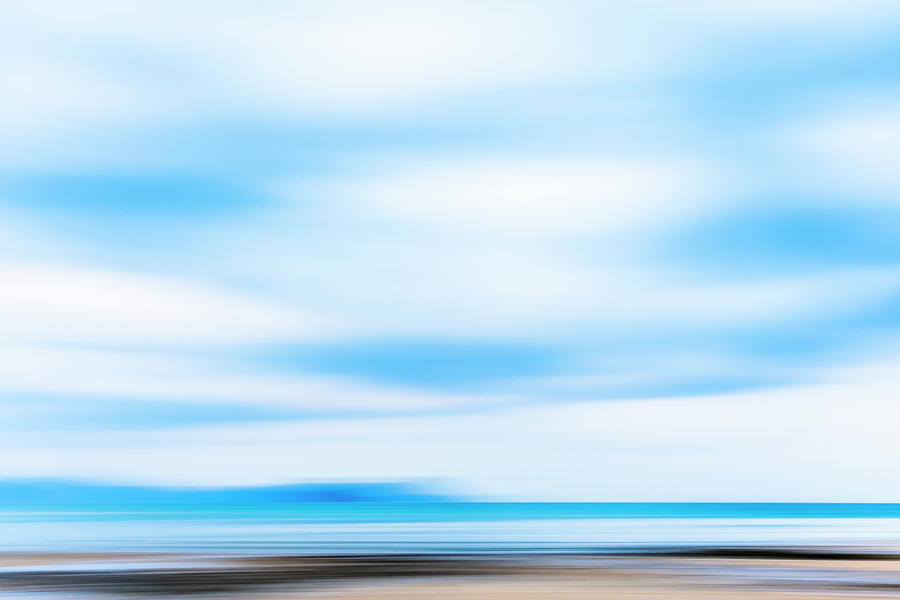 Thailand Photograph - Blue Sky Seascape by Lucy Brown