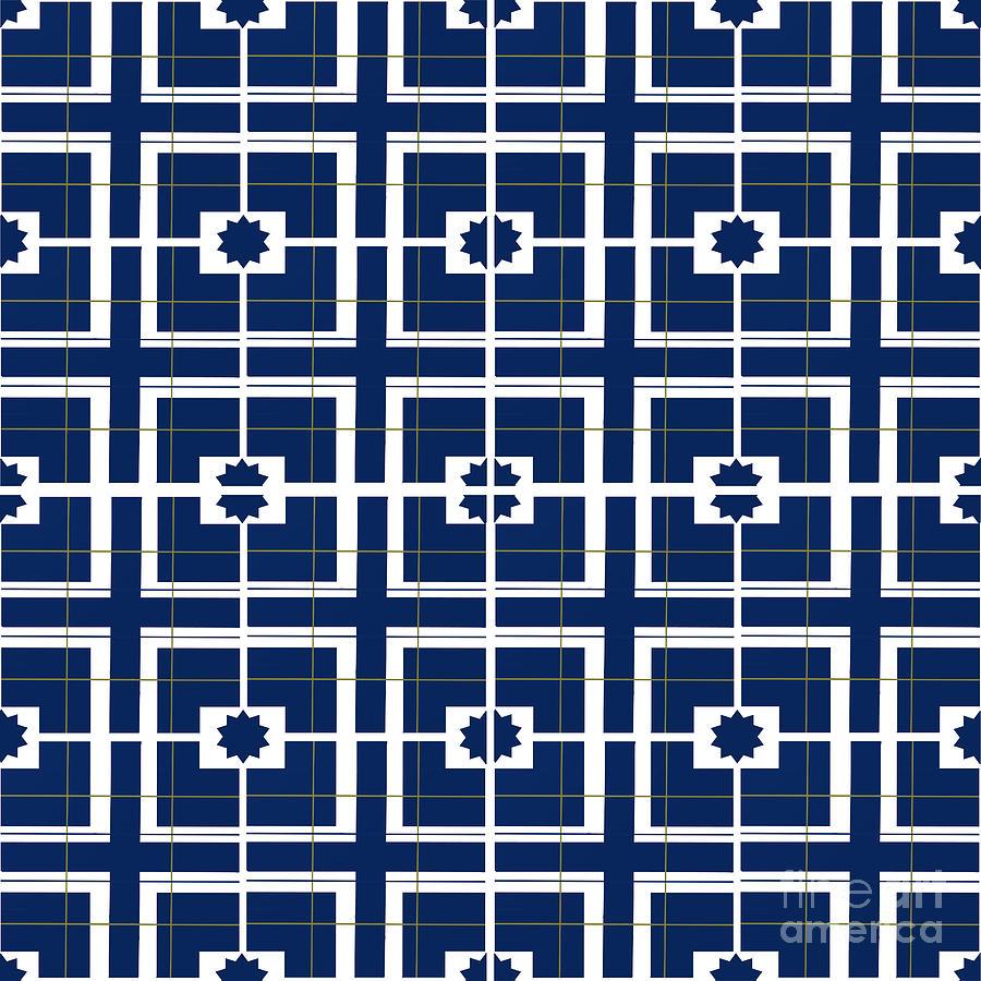Blue Star Tile Digital Art