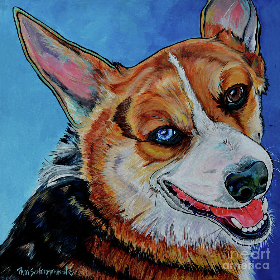 Blue the Corgi by Patti Schermerhorn