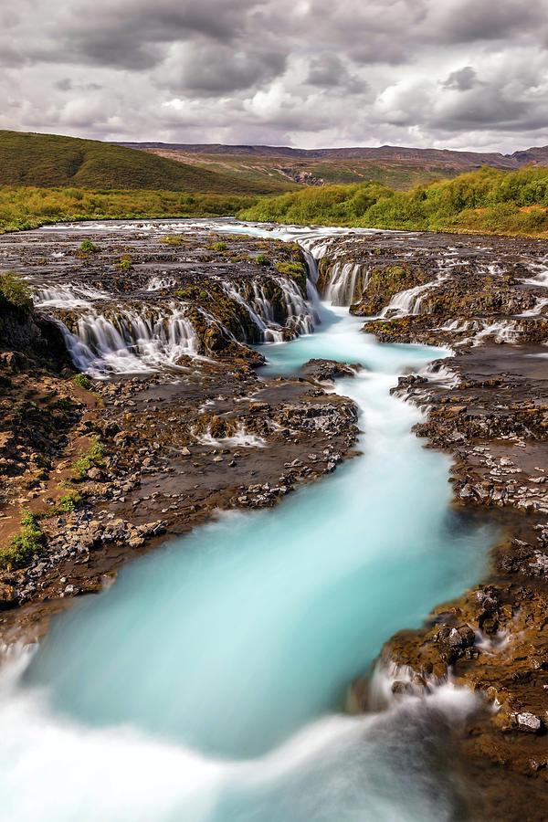 Blue Water Of Bruarfoss Iceland Photograph