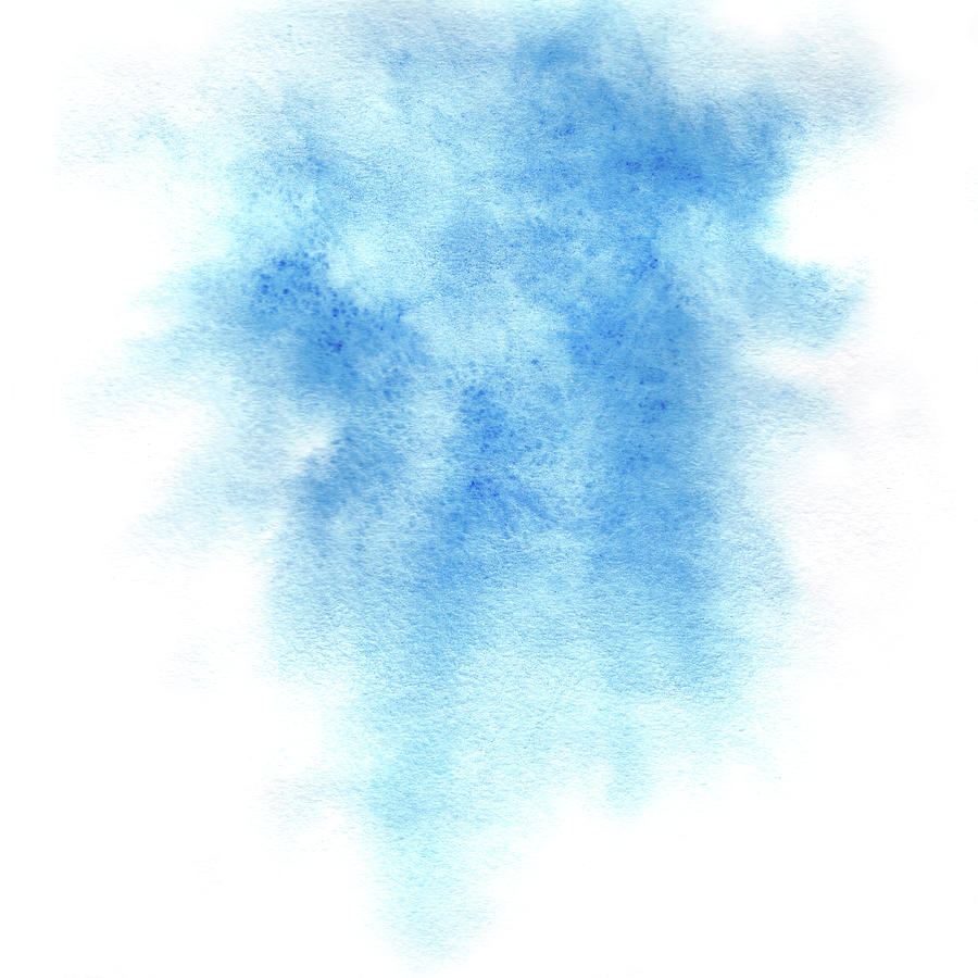 Blue Painting - Blue watercolor background by Elena Sysoeva