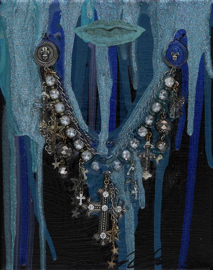 Blue Mixed Media - Blue Woman by AliciaKay