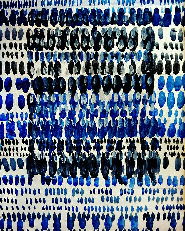 Blue Painting - Blue Zen - Abstract Design by Bruce Black