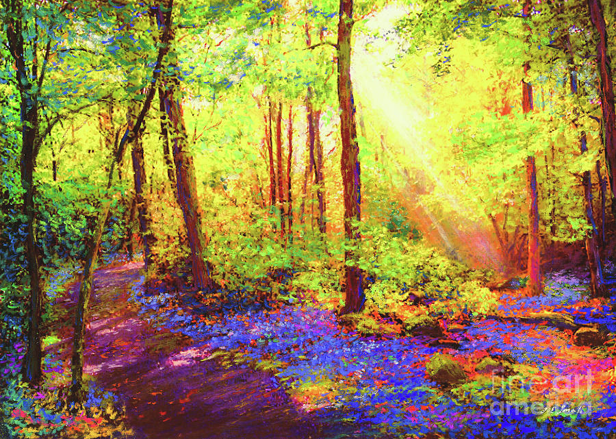 Landscape Painting - Bluebell Blessing by Jane Small