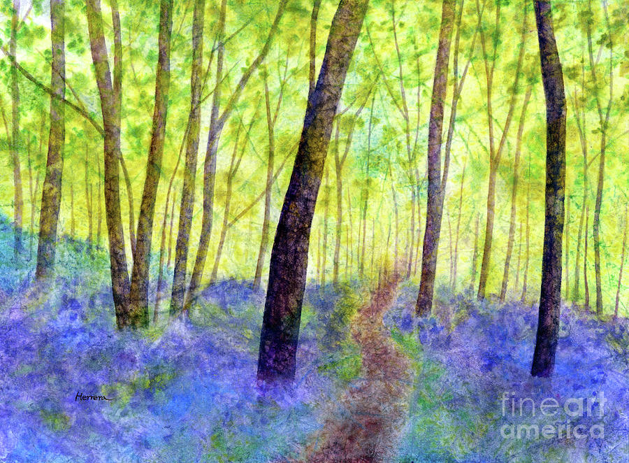 Bluebell Wood-pastel Colors Painting