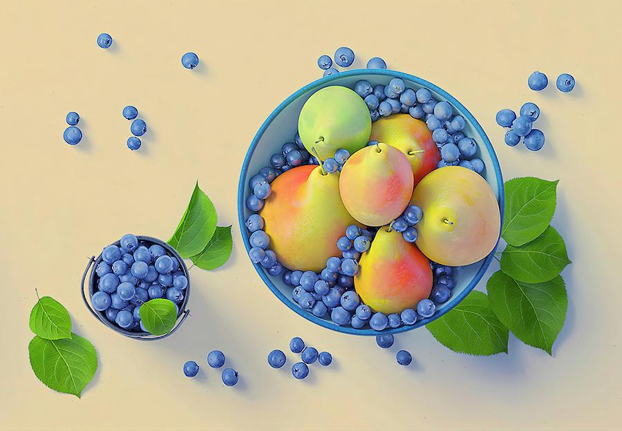 Blueberries And Pears by Johanna Hurmerinta