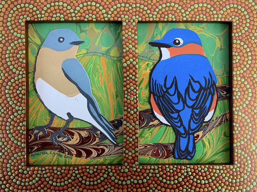 Bluebird Pair by Amanda Lynne