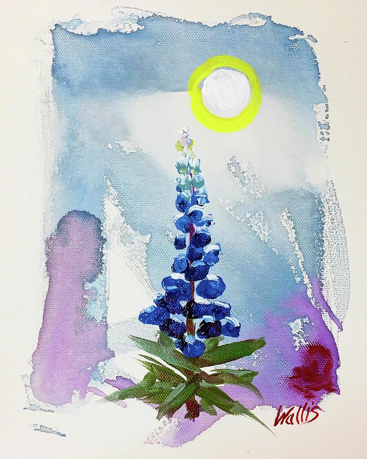 Bluebonnet Moonlight Serenade Painting