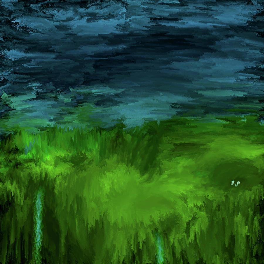 Bluegreen #j4 Digital Art