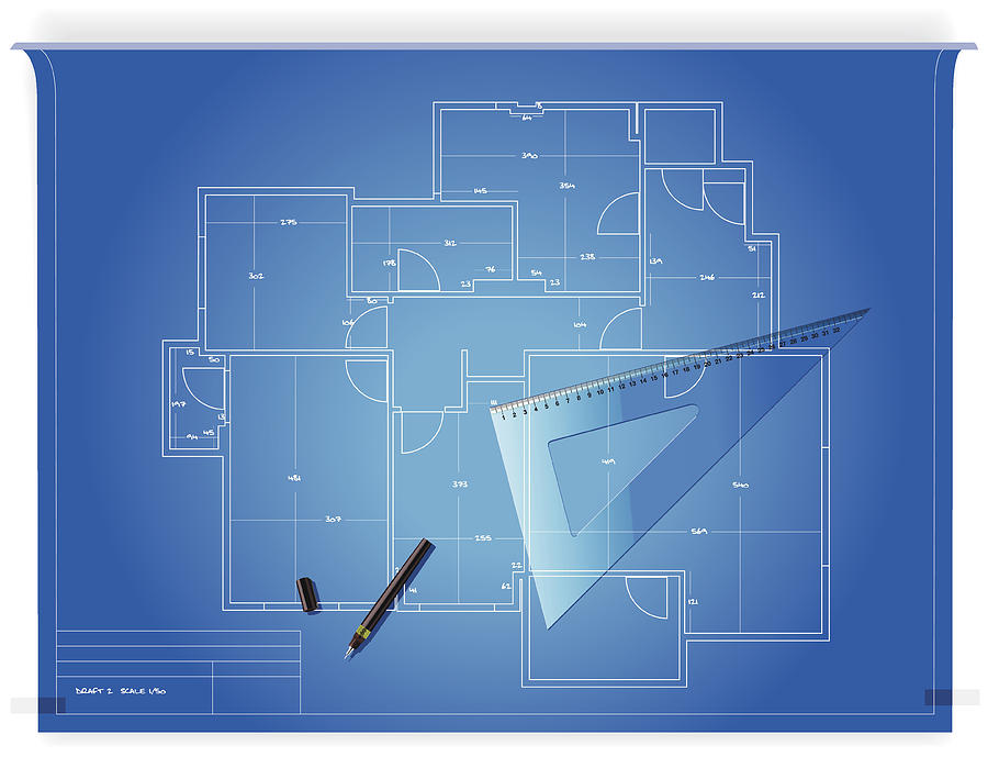 Blueprint Drawing by Anilyanik