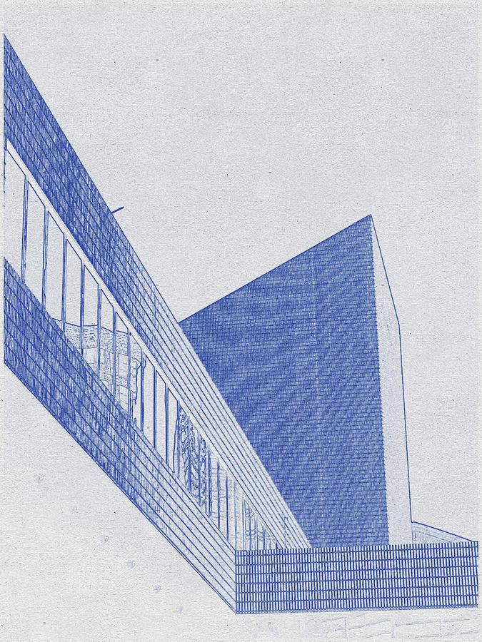 Blueprint Drawing Of Elegance Digital Art