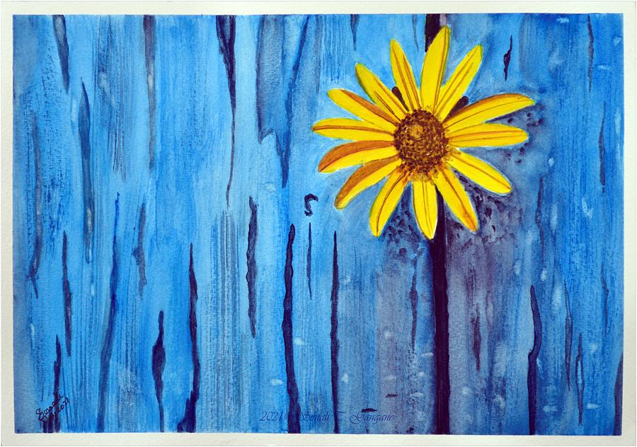 Blues  Bedazzled Painting