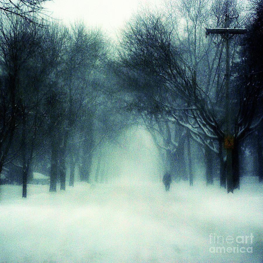 Blurred Chicago Blizzard Photograph