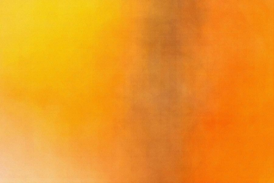 Blurred Colorful Background In Shades Of Orange And Yellow Photograph