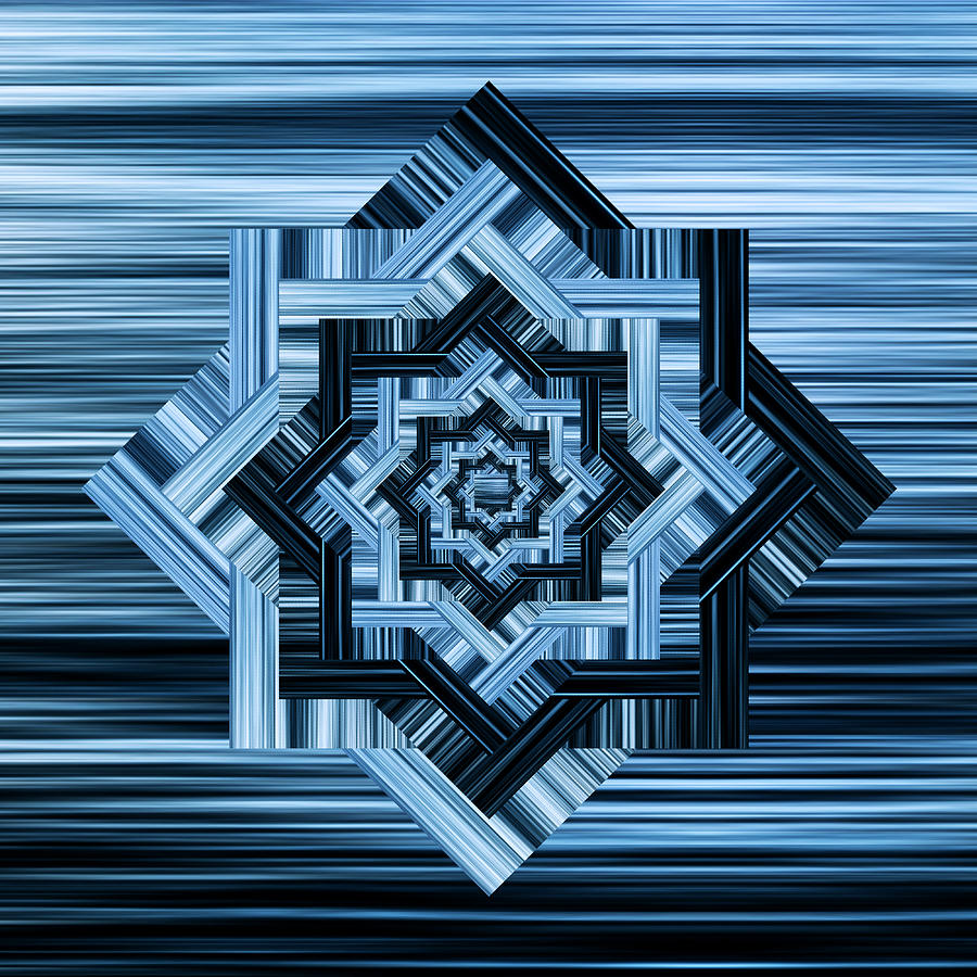 Blurred Waves Infinity Star Digital Art