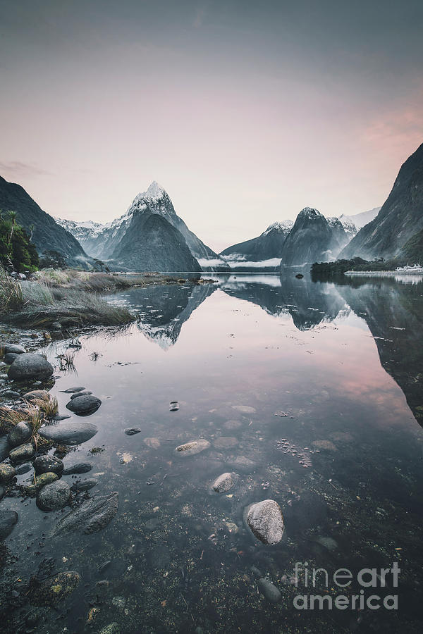 Blushing Fjords Photograph