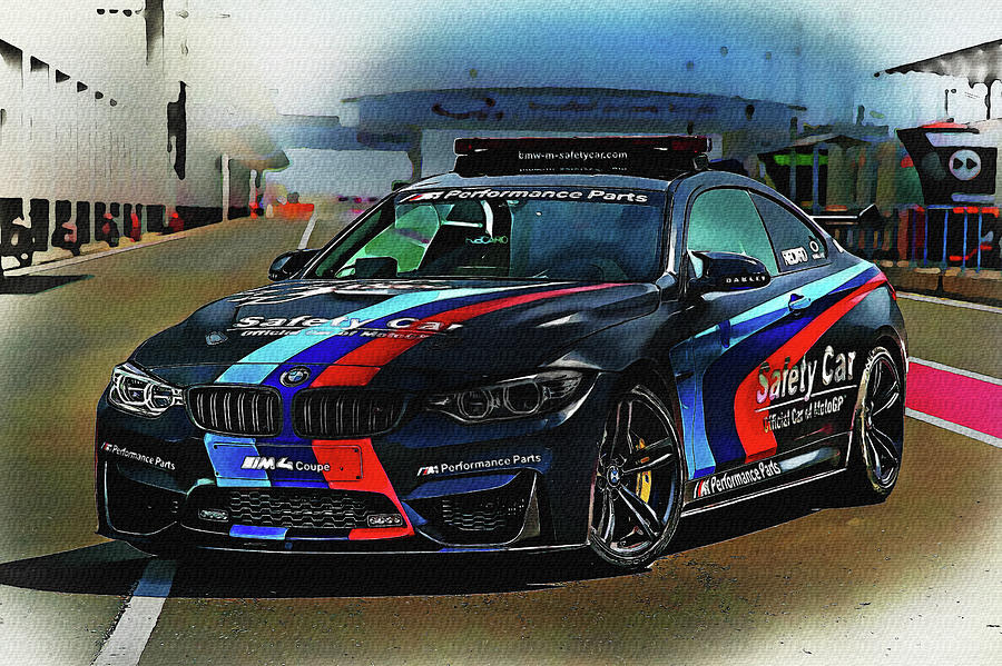 Bmw M4 Coupe Motogp Safety Car Digital Art By Don Kuing