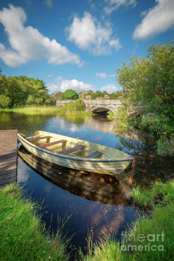 Boat At Padarn Lake Llanberis by Adrian Evans