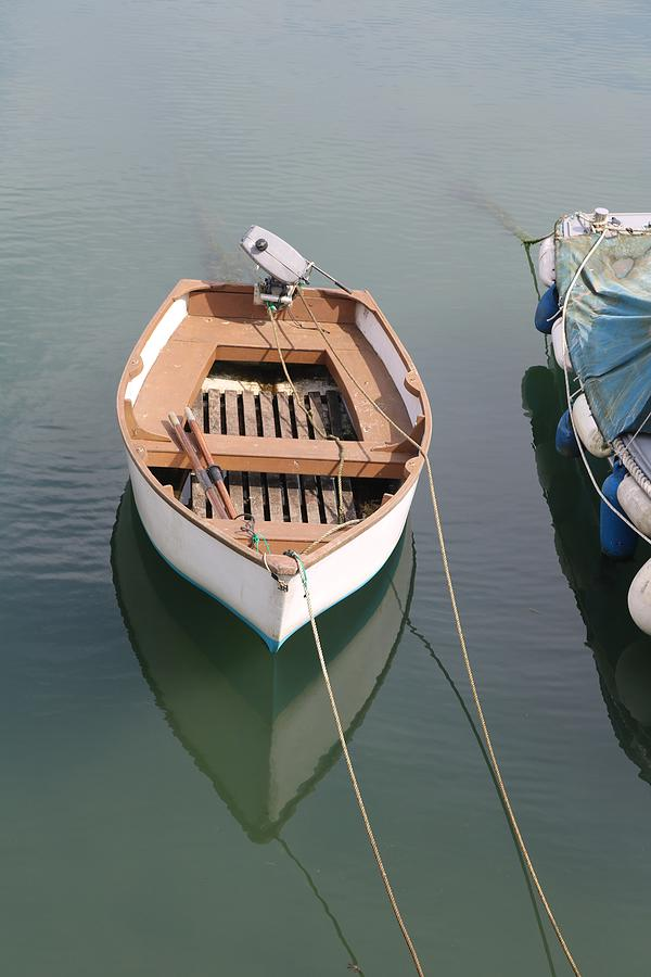 Reflections Photograph - Boat at Rest  - 2 by Michaela Perryman