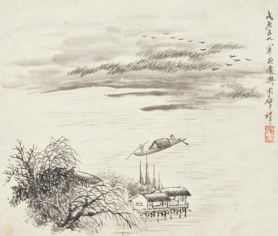 Zhao Painting - Boat Chart  by Zhao Xiang Zhou