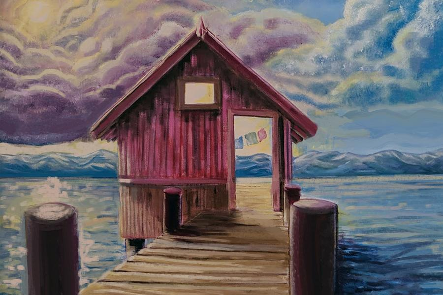 Boathouse Painting - Boat House by Craig Newman