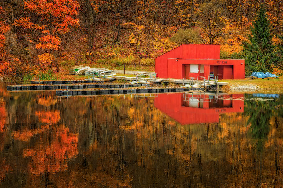 Boat House Fall by Susan Candelario