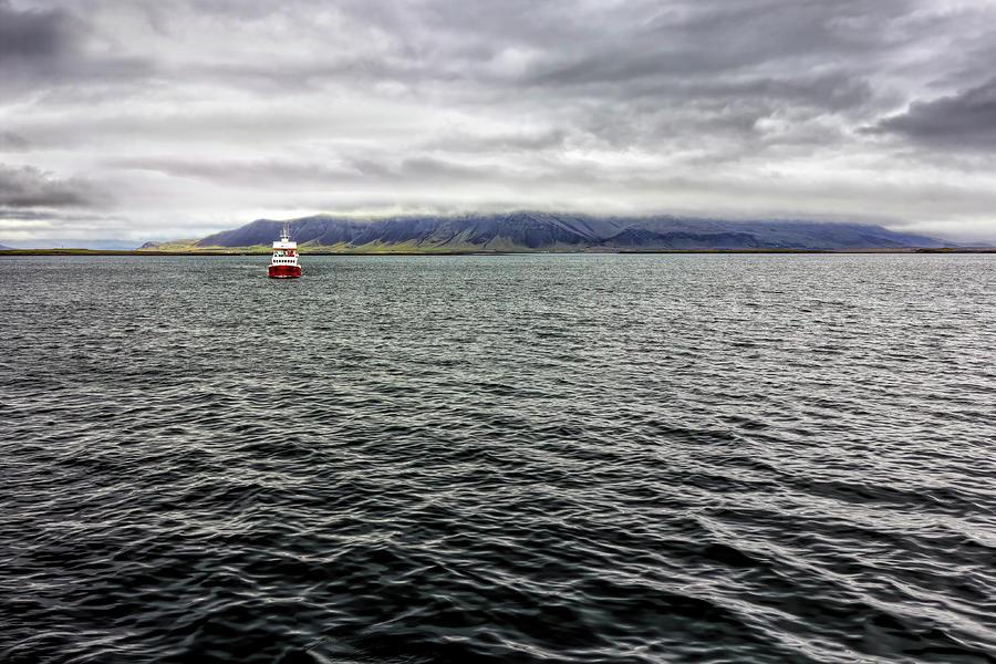 Boat Off Reykjavik Photograph