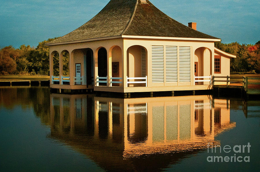 Beaches Photograph - Boathouse Reflection by Steven Norris