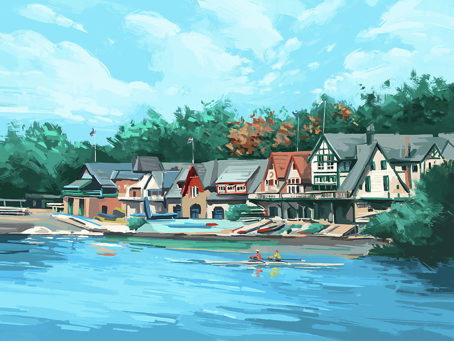 Boathouse Row Digital Art