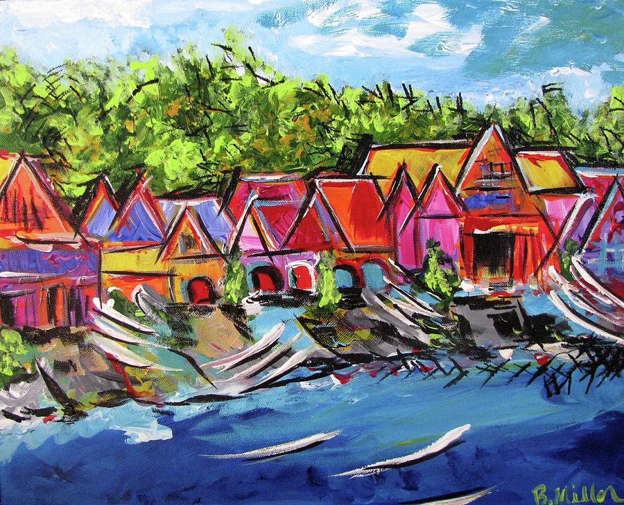 Philly Painting - Boathouse Row by Britt Miller