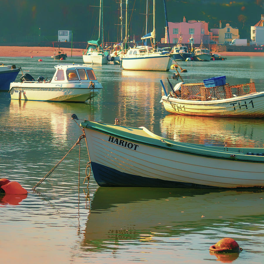 River Photograph - Boats and reflections by A J Paul