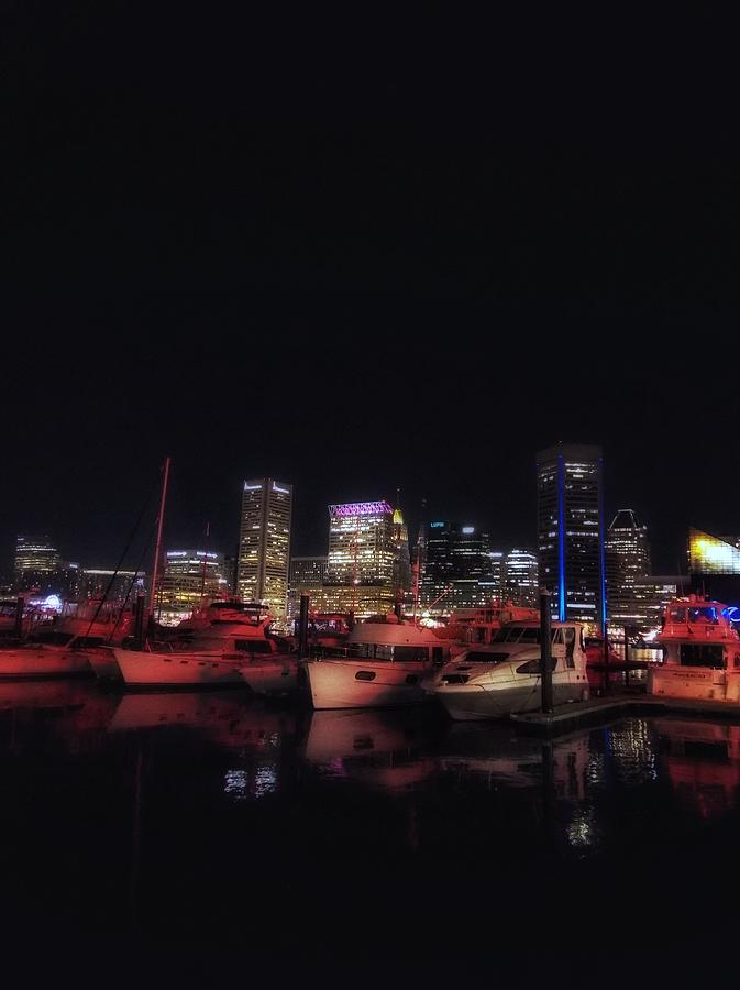 Boats Photograph - Boats in Baltimore Harbor by Kathy McCabe