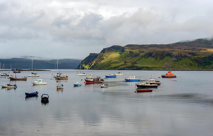 Boats In Portree, Scotland, Uk Photograph