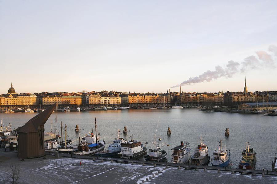 Boats in Stockholm Sweden. Photograph by Plattform