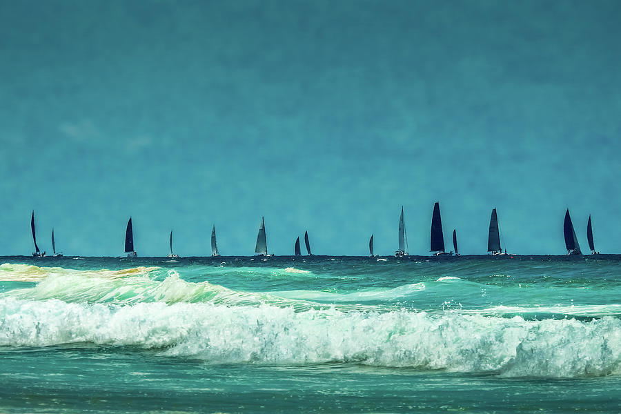 Boats On The Blue Photograph