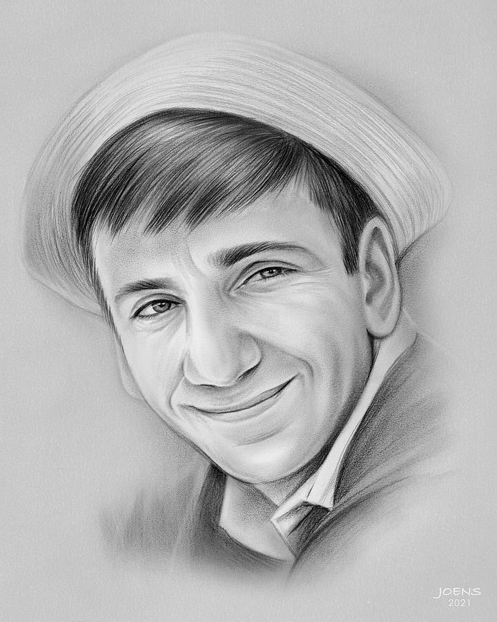 Bob Denver Drawing - Bob Denver - Pencil by Greg Joens