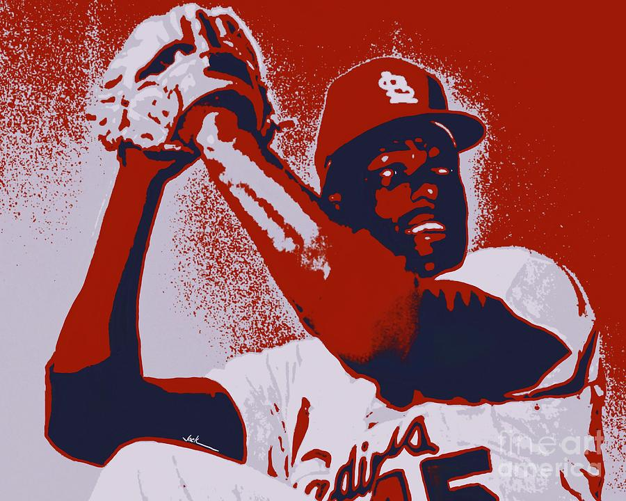Bob Gibson Painting - Bob Gibson by Jack Bunds