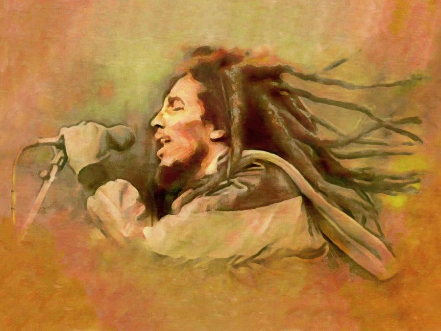 Bob Marley Digital Art - Bob Marley by Regina Wyatt