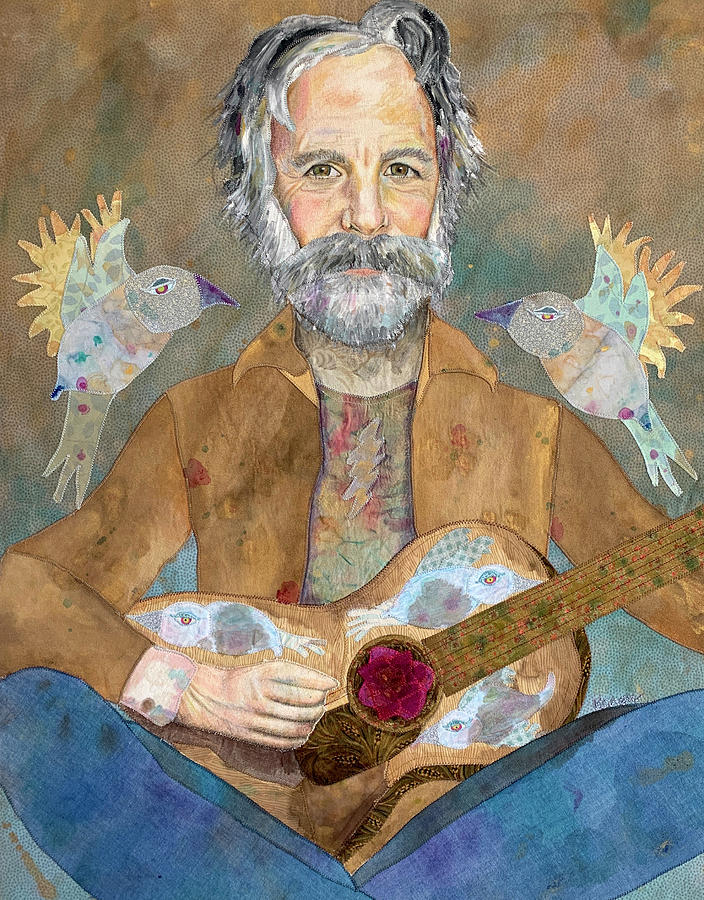 Bob Weir Mixed Media - Bob Weir / Saint of Circumstance by Karen Payton