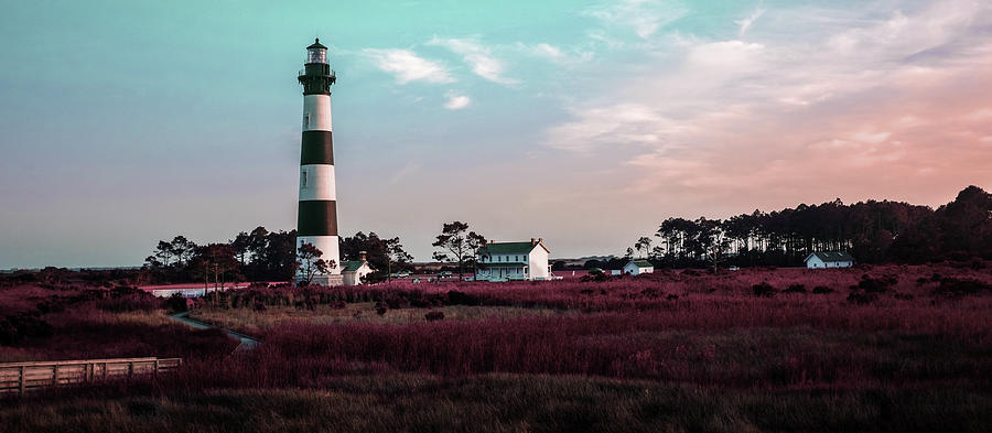 Bodie Island Lighthouse - Cape Hatteras Outer Banks Nc 2 - Surreal Art By Ahmet Asar - Shortcut Digital Art