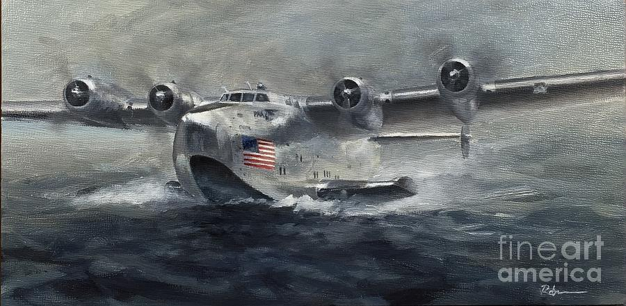 Boeing Painting - Boeing 3141 Clipper by Stephen Roberson