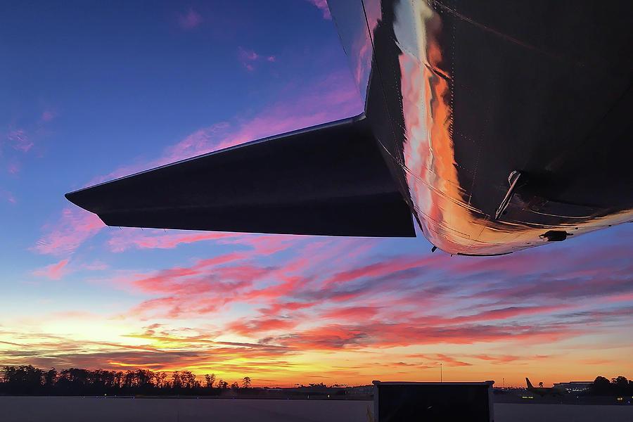 Boeing 757 Sunset #1 by Dimitris Sivyllis