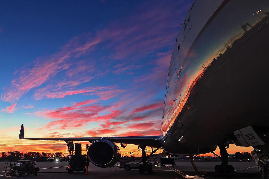 Boeing 757 Sunset #2 by Dimitris Sivyllis