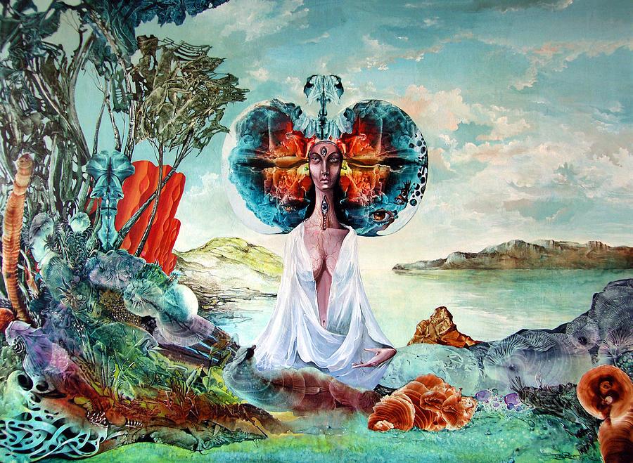 Surrealism Painting - Bogomils Landing by Otto Rapp