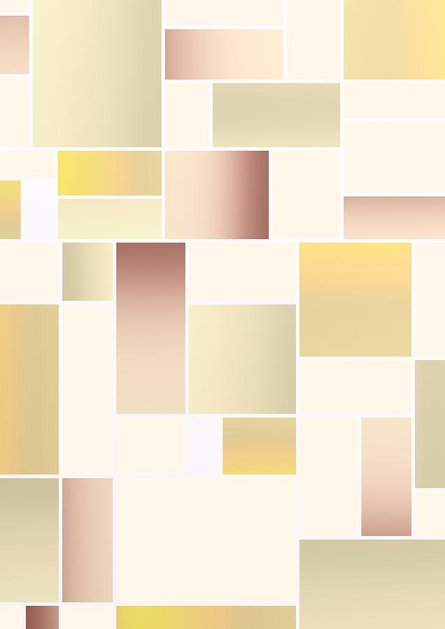 Boho Geometric Composition Digital Art