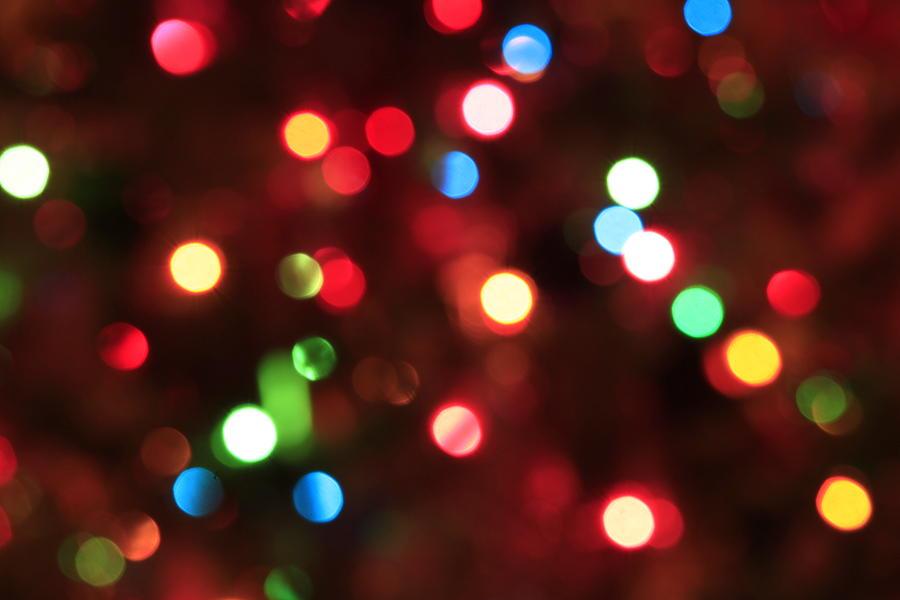 Bokeh Colorful Lights - Christmas by Trevor Slauenwhite