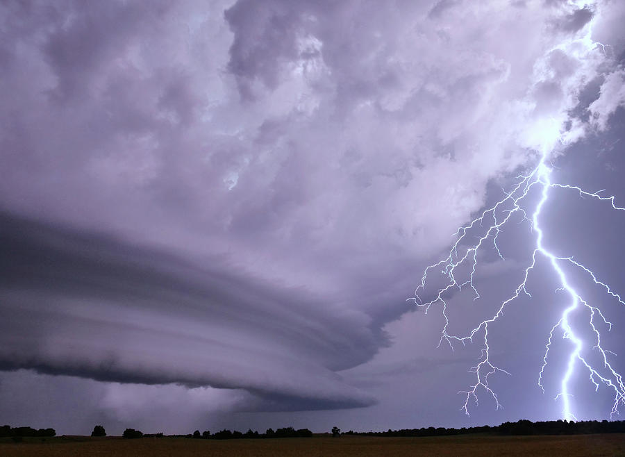 Lightning Photograph - Bolt From The Blue by Brandon Sullivan