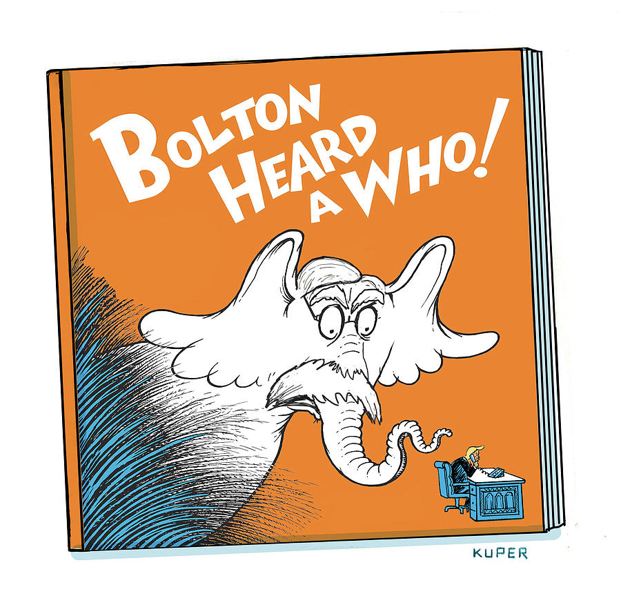 Bolton Heard A Who Drawing by Peter Kuper